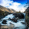 Waterfalls in glencoe, scotland.