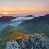Sunrise, Glencoe, Highlands, Scotland.