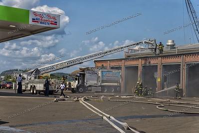 Garbage Truck fire 16 Wheeler St. New Haven, CT 08-15-18