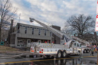 FireHouse Fire - Quarters of E8 and S1, New Haven, CT - 3/23/18