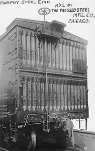 2011.008.0213.21--glenn guerra collection 4.5x6.5 print--NYC&HR (NYC)--Murphy steel end on wooden boxcar 91895 Pressed Steel Car Co builders photo--location unknown--no date