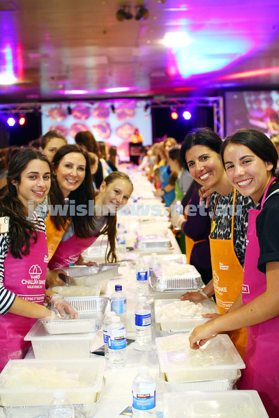 23-10-14. The great challah bake at Glick's warehouse. More than 2400 women, and one man took part in Melbourne's biggest ever challah bake as part of the 2014 Shabbat Project. Photo: Peter Haskin