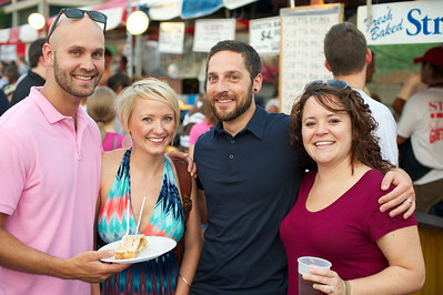 Dave and Sara from Taylor Mill, KY with Drew and Valerie of Newport at Goettafest on Saturday