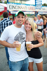 Brandon and Lindsey Callahan from Mason at Goettafest on Saturday