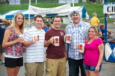 Megan, Josh, Craig, Brian and Jenna from Cincinnati at Goettafest on Saturday