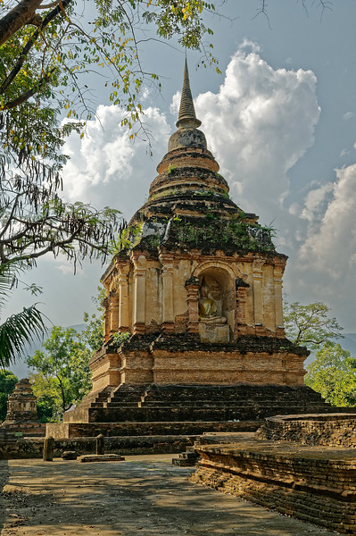 Another view of the <i>chedi</i> containing Tilokorat's ashes