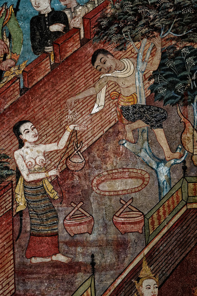 Detail from the Prince of the Golden Conch mural