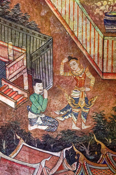 Detail from the Phra Suwanahong mural
