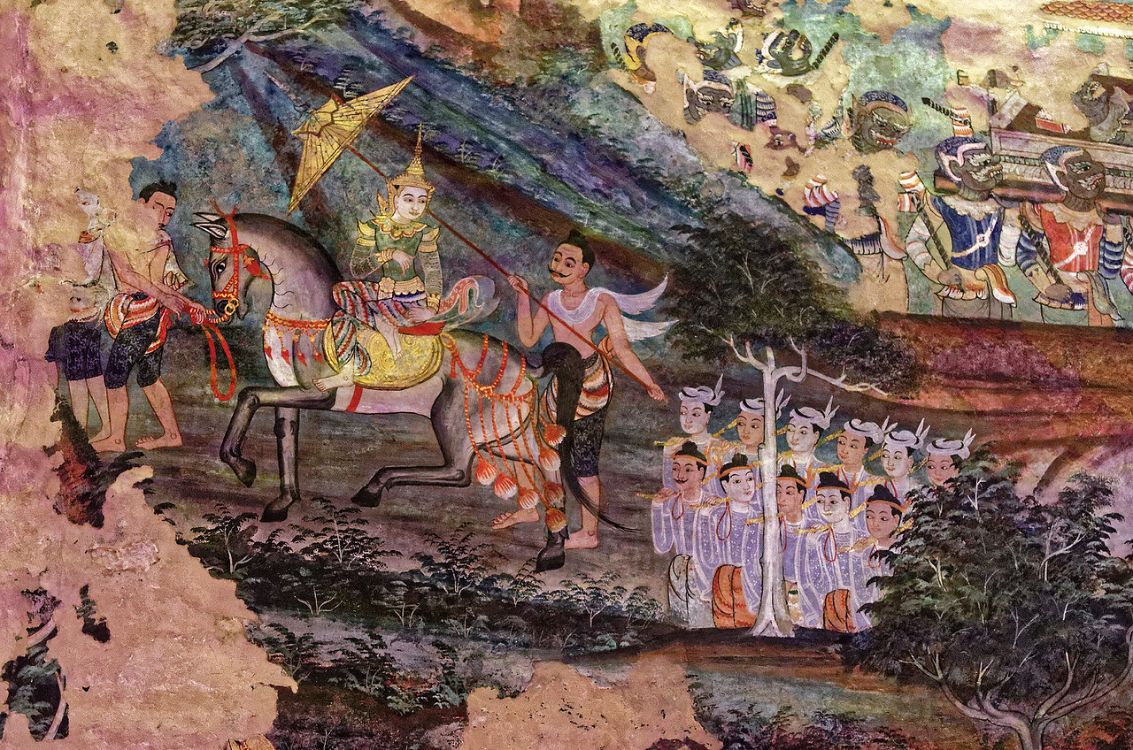 Among their other characteristics, the Wat Phra Singh murals portray a somewhat broader picture of everyday life than that generally seen in many of the temple murals in the central plains in and around Bangkok.