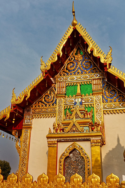 The temple structures and their decorative elements must be among the most colorful to be found at Thailand's many Buddhist temples.