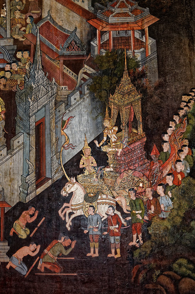 Mural detail from the <i>viharn</i>