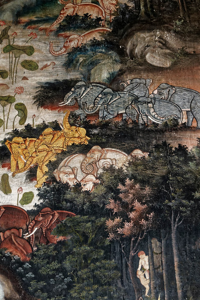 Also depicted are scenes from the mythical Himaphan Forest and the many creatures, both mundane and mythical, that inhabit it.