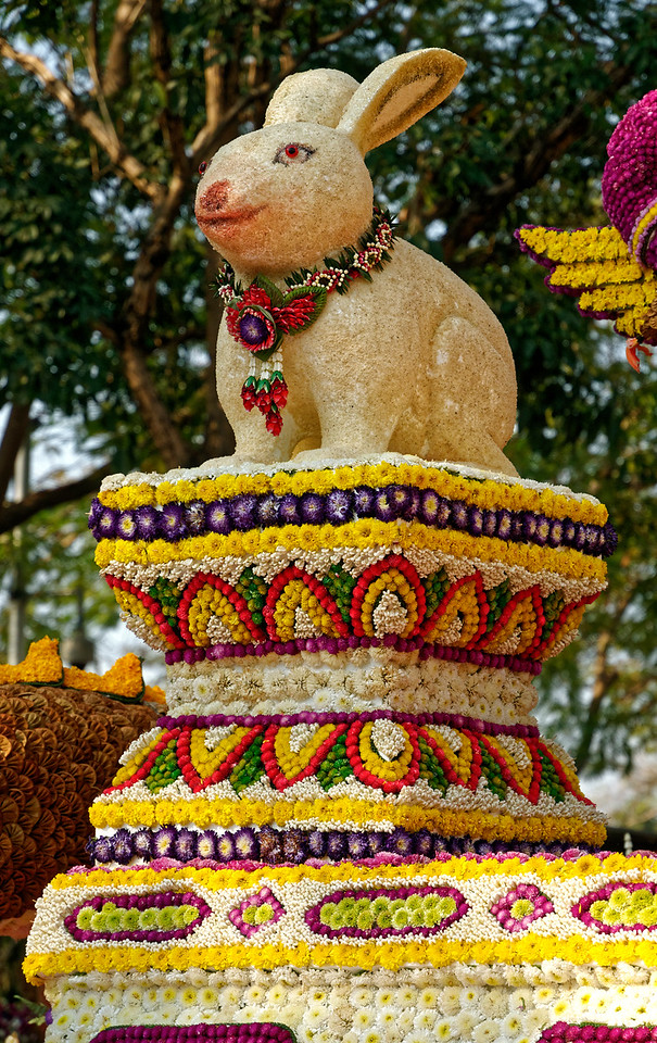 These particular photos were taken during the Year of the Rabbit, and rabbits were much in evidence on the floats.