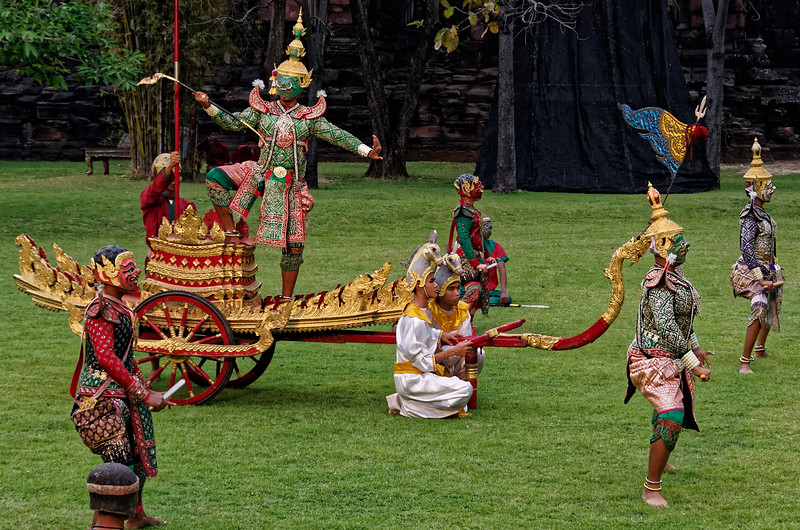 Ravana and warriors