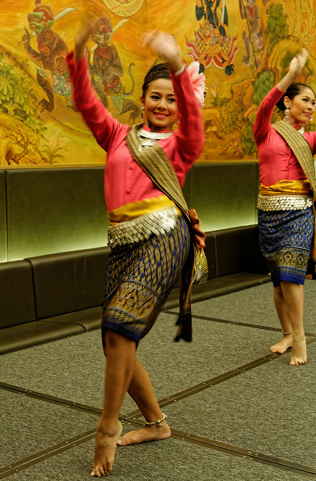 Folk dancing from Isaan provides an interlude to the dramatic action.