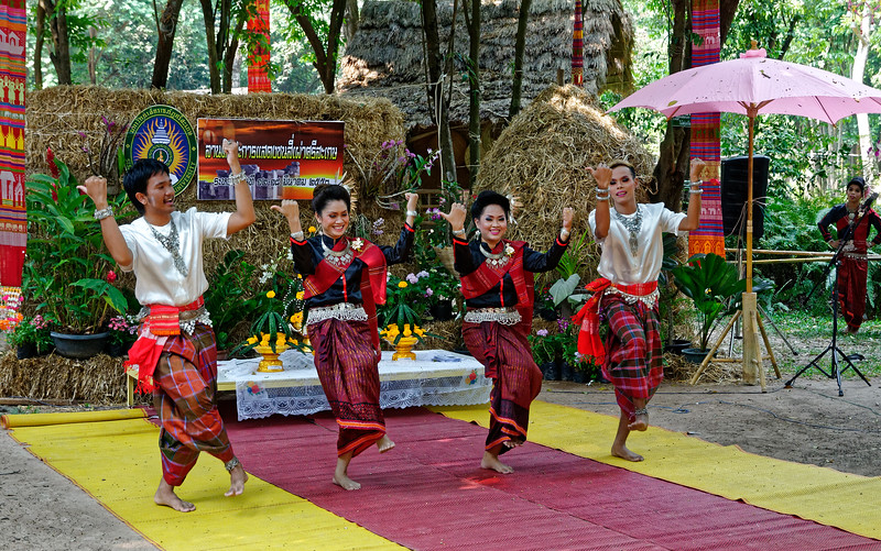 """Suay men and women performing the """"grasshopper dance"""""""
