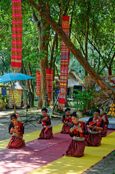 Suay dancers performing at the festival. The Suay are also known as Kui or Kuay.