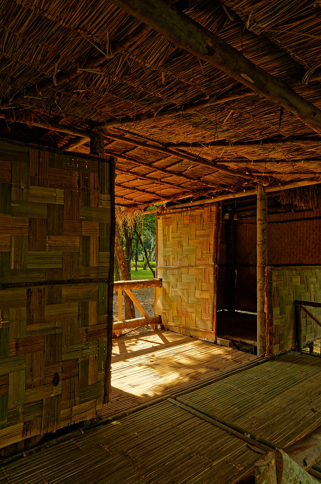 Interior view of a typical early Khmer home