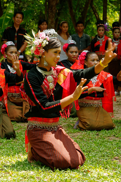 Dancers taking part in the Suay ceremonial dance