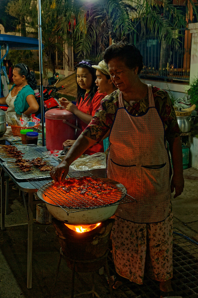 No Thai festival, celebration, or other public event would be complete without the presence of street-food vendors and their varied fare.