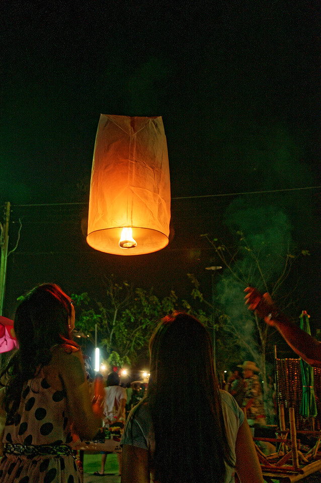 "So-called ""floating lanterns"" are often lighted and released into the air, though they can end up being a hazard to airplanes."