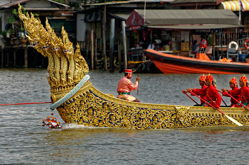 "Prow of the royal barge Ananta Naga Raj (or Anantanakkharat): ""Ananta, King of the <i>Naga</i>"""