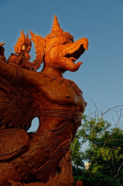 This is Garuda, part-human part-bird mount of Brahma.