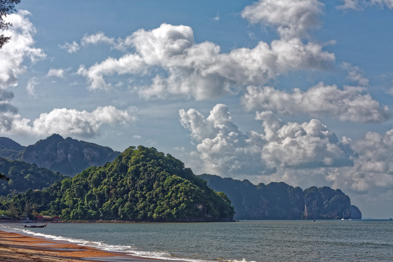 Early-morning light along the shore at Ao Nang