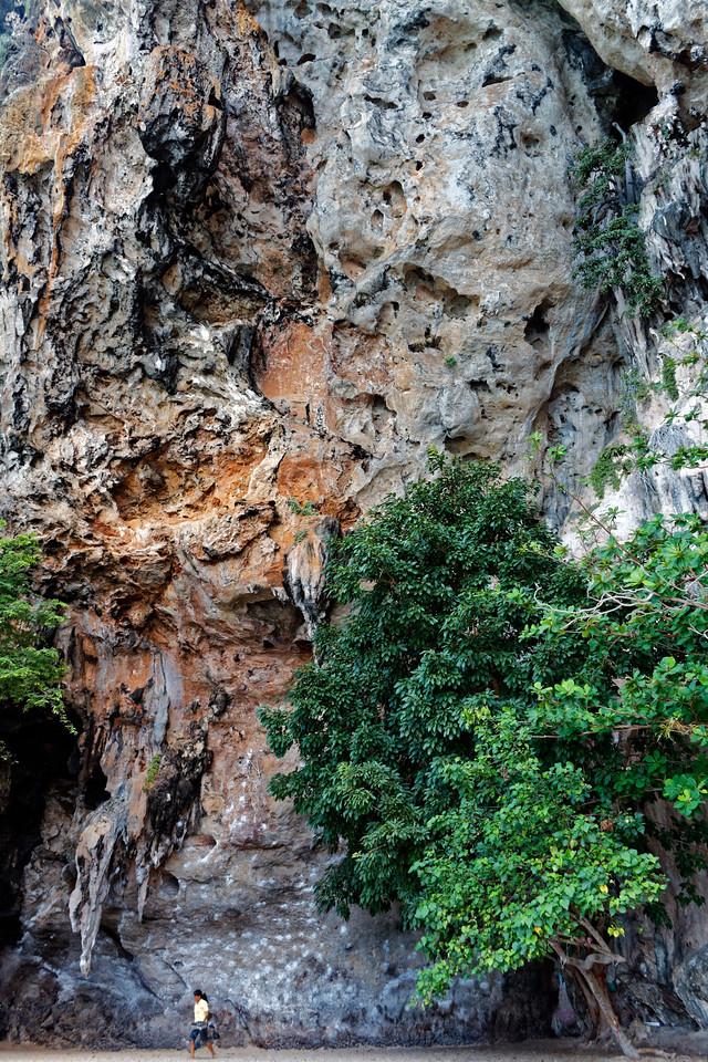 Limestone cliff, West Railae