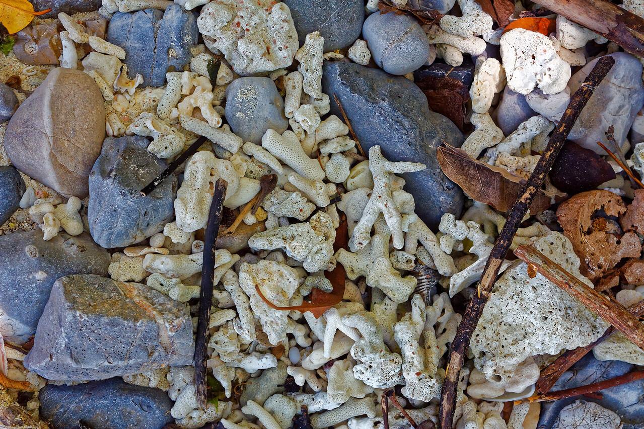 Coral and stones on the beach at Ko Hua Kwan