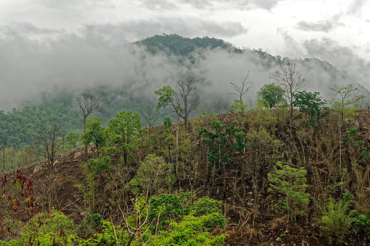 Mountainous landscape near Ban La Up, Mae Hong Son Province