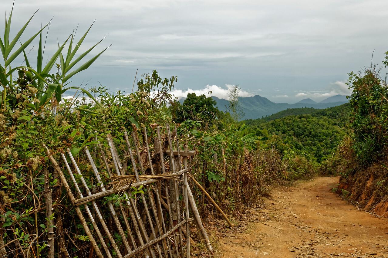 Entranceway to a mountainside home