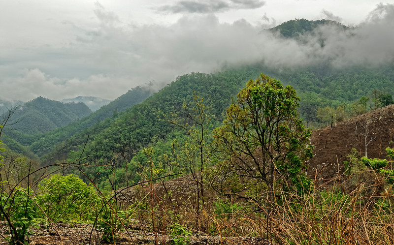 Mountainous landscape north of Mae Sariang, Mae Hong Son Province