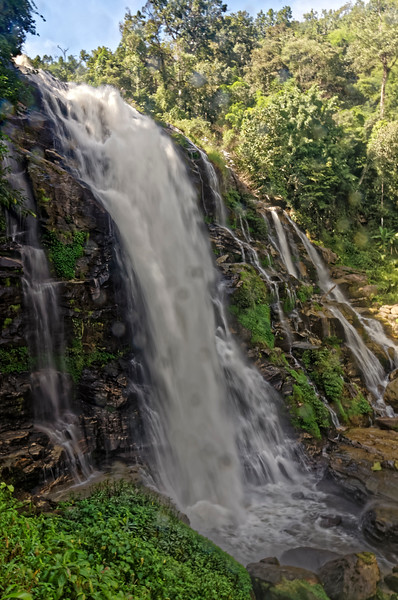 Vachiratharn Waterfall, on the Mae Klang River, at the lower reaches of Doi Inthanon