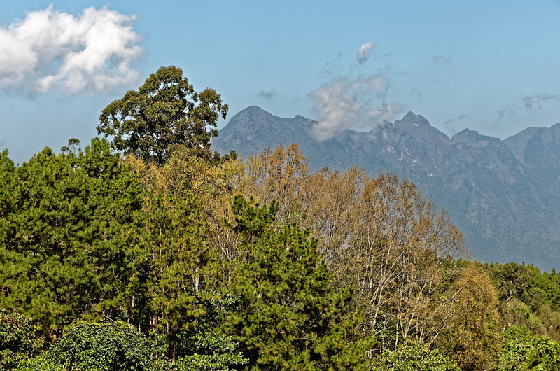 A view of nearby peaks from Doi Chiang Dao