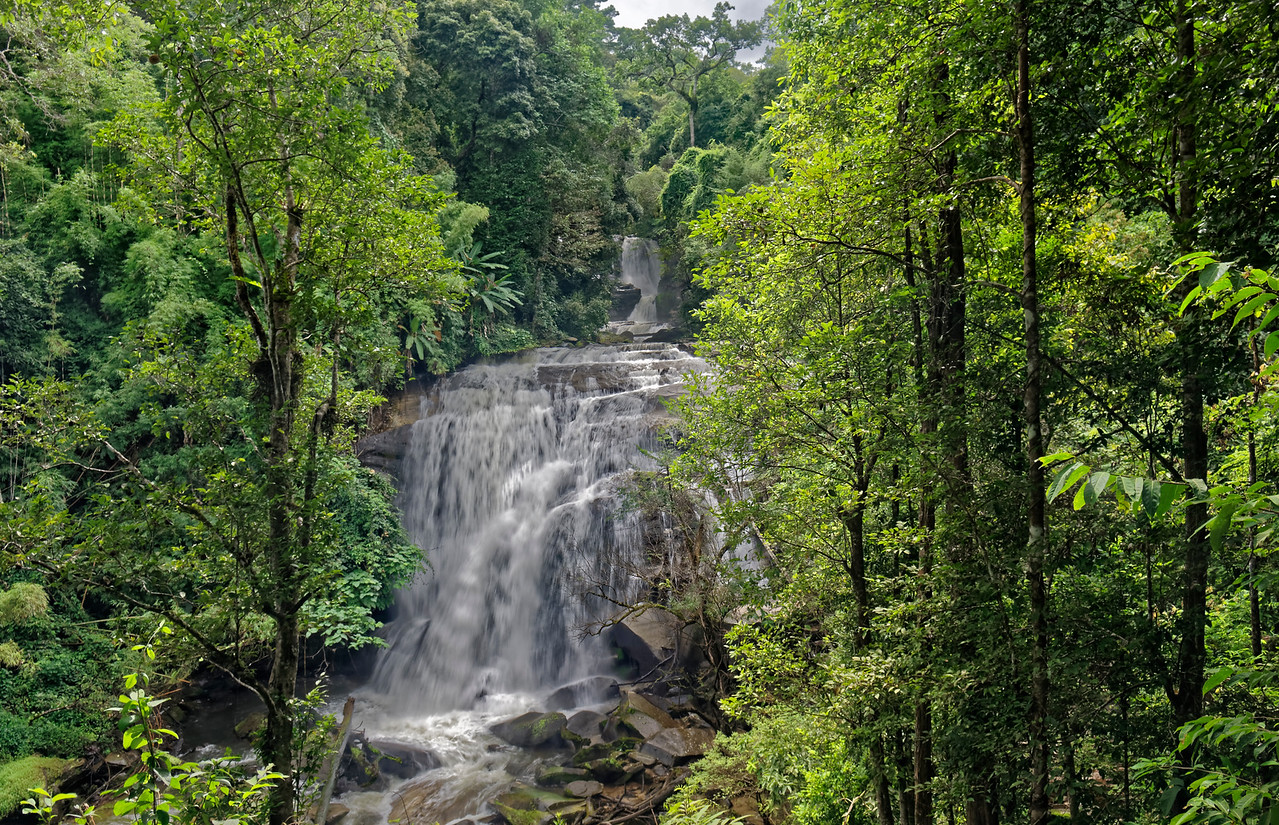 Sirithan Waterfall, also on the Mae Klang River, on the slopes of Doi Inthanon
