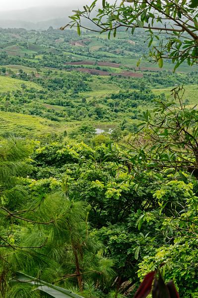 Rainy-season landscape at Dansai, Loei Province, northern Isaan