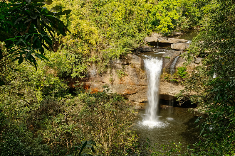 Across lower Isaan and well away from Phu Chong Na Yoi National Park is Thailand's oldest national park, Khao Yai, an 840-square-mile sanctuary in the southwest corner of Isaan. Seen in the photo is the park's Haew Suwat Waterfall.