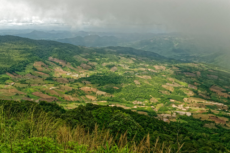 A view from the top of 4,511-foot Phu Rua, Phua Rua National Park, Loei Province
