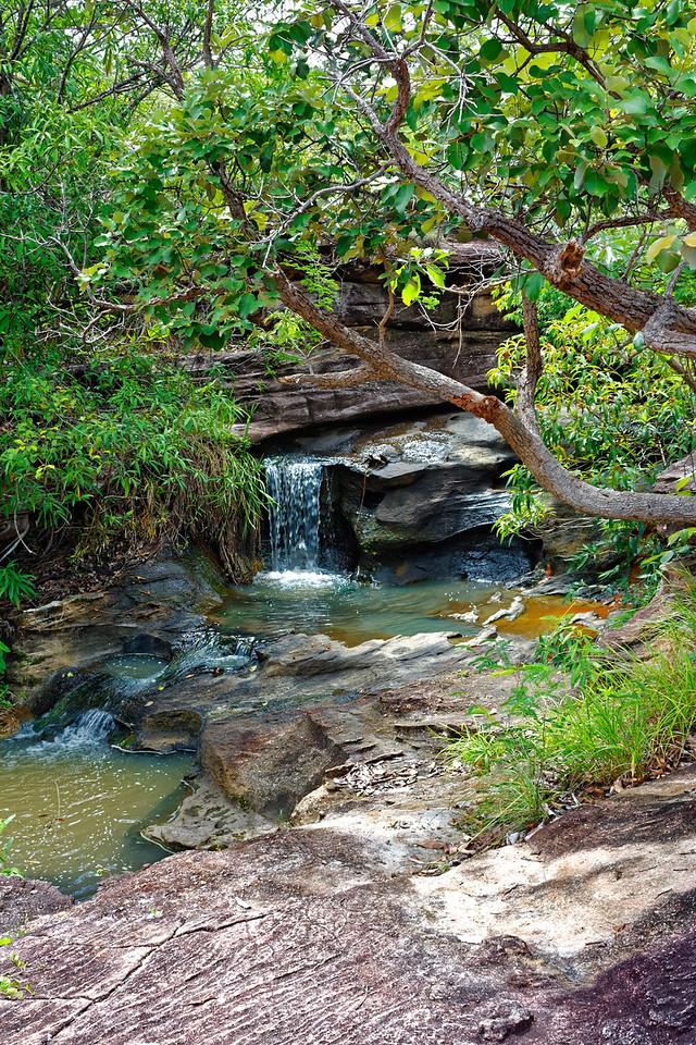 Mini-waterfall above Saeng Chan waterfall, Pha Taem National Park