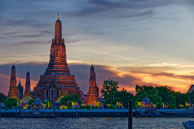 The Temple of the Dawn at sunset