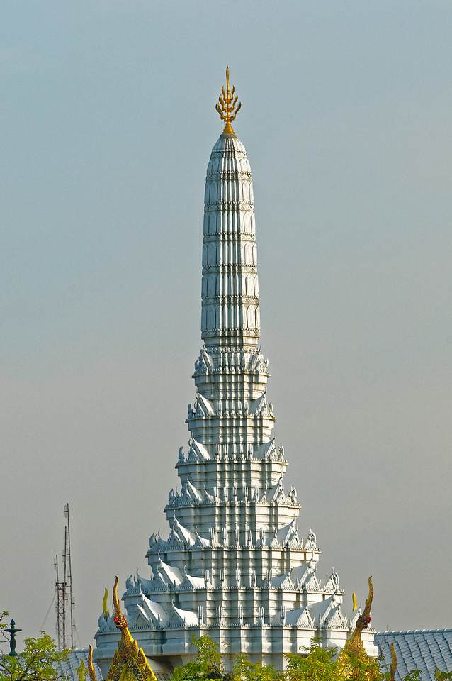 The superstructure above the Bangkok City Pillar shrine, dating from the founding of Bangkok in 1787 by Rama I, who ordered that a shrine be built to honor the guardian spirit of the city, Phra Lak Mueang
