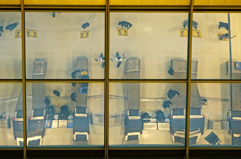 Reflections in a skylight at Suvarnabhumi International, Bangkok's main airport