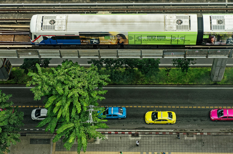 In a city where traffic often jams to a standstill, the Bangkok Mass Transit System's Skytrain provides what is often a speedier means of getting around.