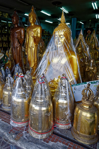 Buddha images and temple bells for sale