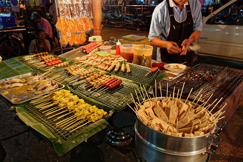 Fish sticks and fish balls, meatballs, sausage, among other offerings