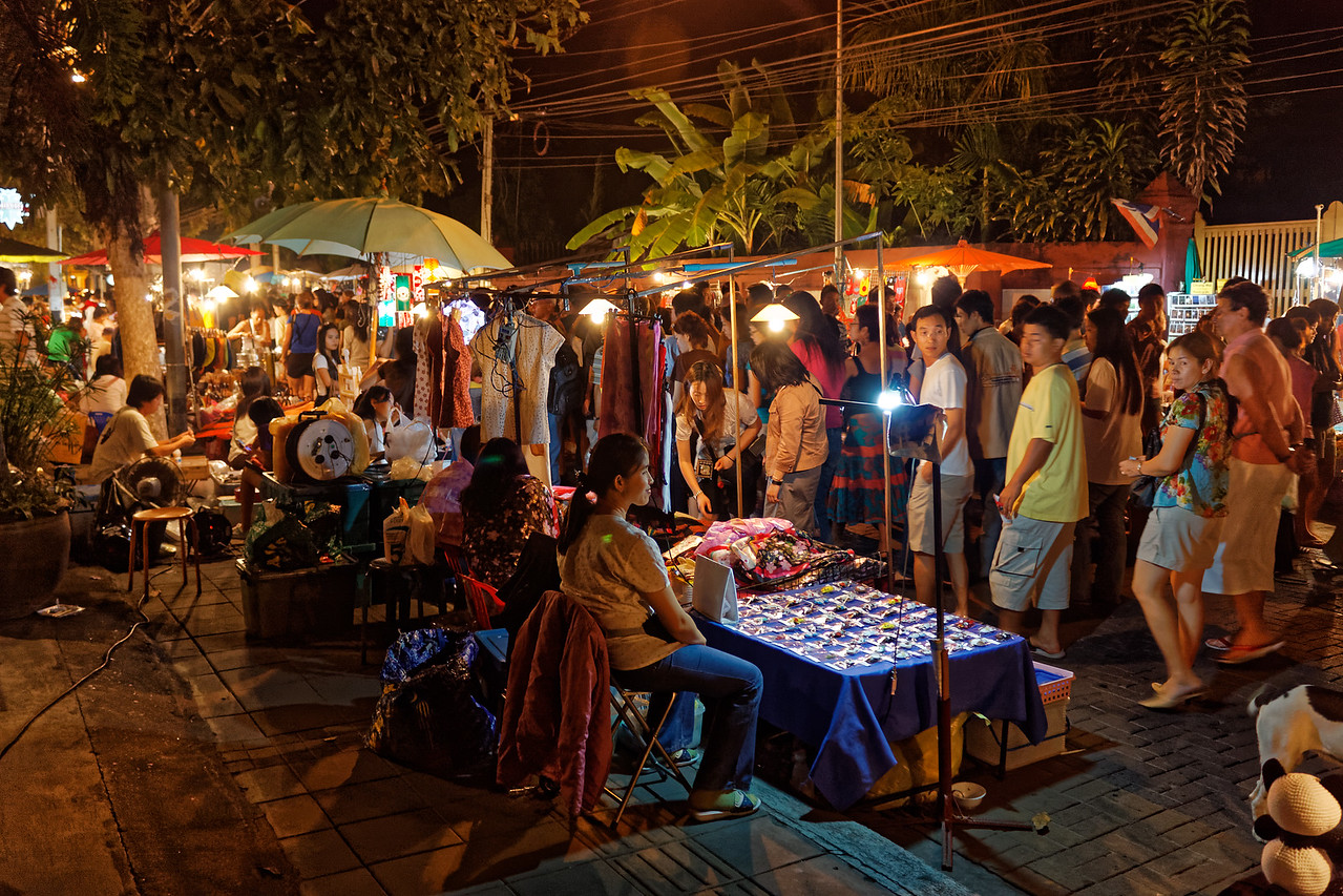 Many of the wares for sale at the Walking Street Market are hand made by the sellers.