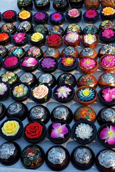 Carved and colored soaps for sale at Thapae Gate