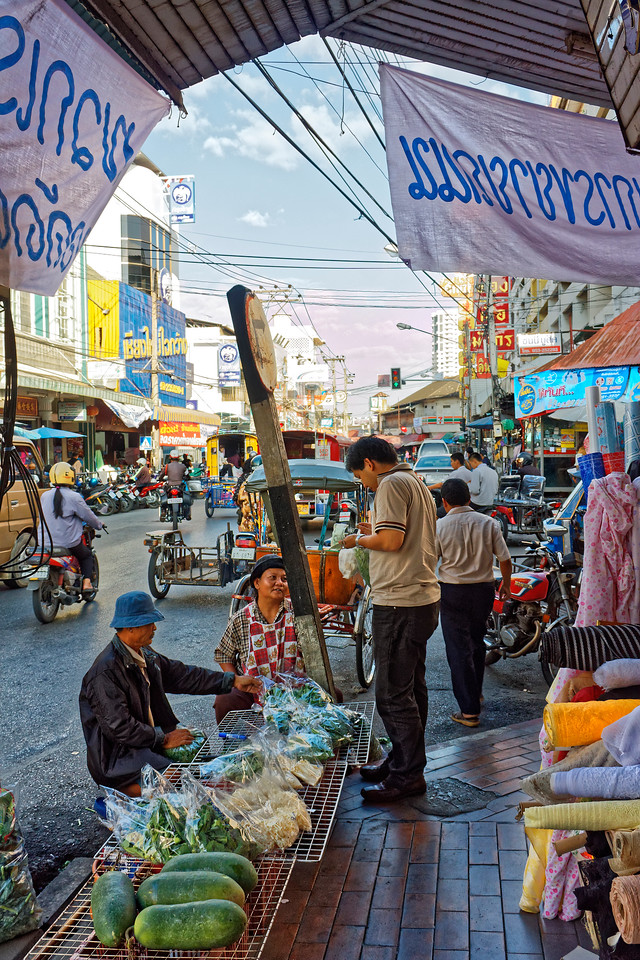 A street in Chiang Mai's Chinatown section