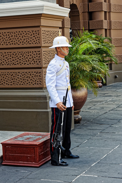 Military guard at the Grand Palace, Bangkok